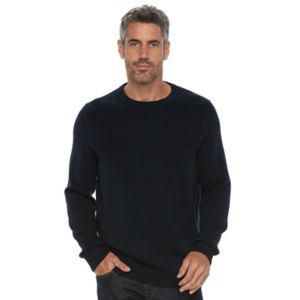 Men's Croft & Barrow® Classic-Fit Textured Yoke Crewneck Sweater